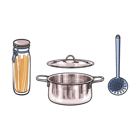 Kitchenware equipment utensil objects concept.