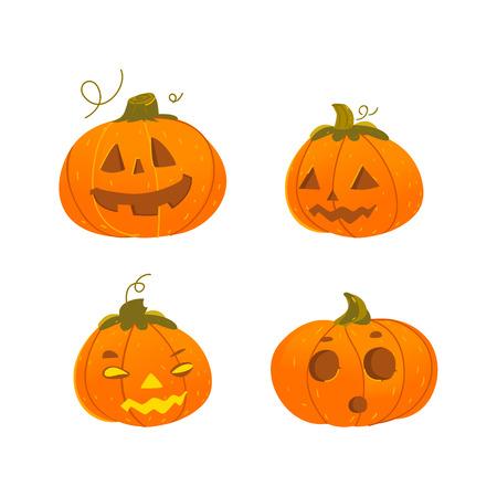 Cartoon Illustration Of A Funny Halloween Pumpkin Jack-o-lantern ...