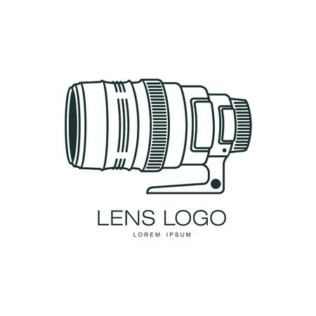 Vector photo caméra lentille icône . flat illustration isolé sur un fond blanc. logo de modèle de marque pour le studio de photos Banque d'images - 85691846