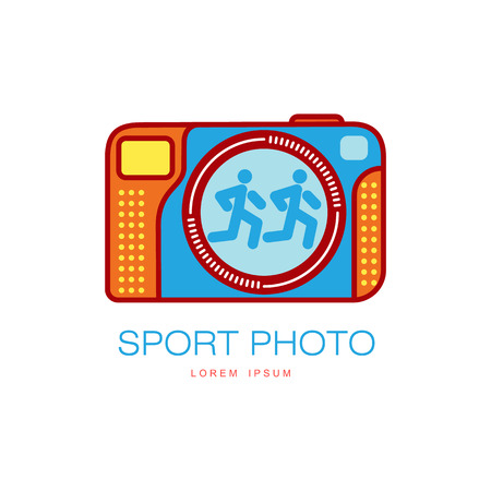Vecteur sport photo couleur icône illustration couleur isolé dessin animé plat sur un fond blanc. logo de design pour le concept de l & # 39 ; icône studio Banque d'images - 86924362