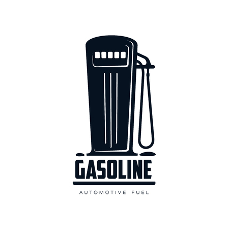 oil and gas industry: vector oil fueling station, gasoline simple flat icon pictogram isolated on a white background. Gas oil fuel, energy power industry symbol, sign