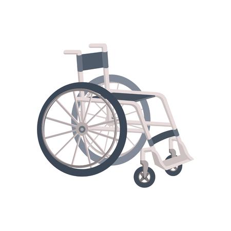 Lightweight metal wheelchair, flat cartoon style vector illustration isolated on white background. Flat cartoon style wheelchair, isolated vector illustration