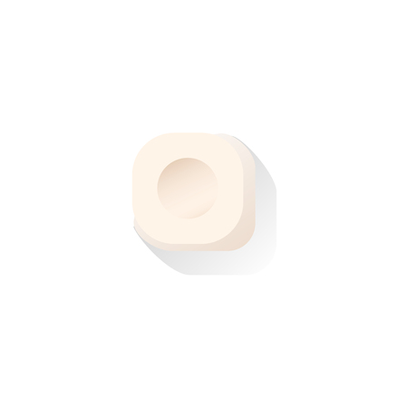 vector platte cartoon stijl biljart keu witte krijt blok close-up. Professionele snooker, poolbiljartuitrusting, instrument voor uw ontwerp. Stock Illustratie