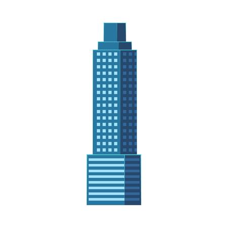 超高層ビル、モダンなビジネス センター、高層ビル、白い背景で隔離のフラット スタイル ベクトル図です。フラットな高層ビル、高層ビル、ビジ