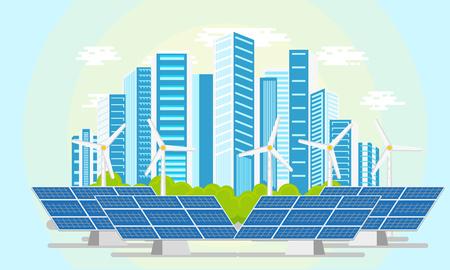 Flat moderne icône de la ville écologique illustration vectorielle Banque d'images - 89121566
