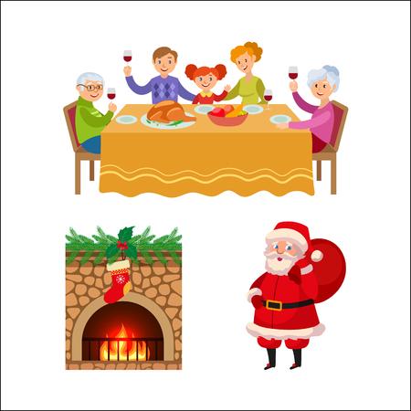 Christmas concept elements vector illustration.