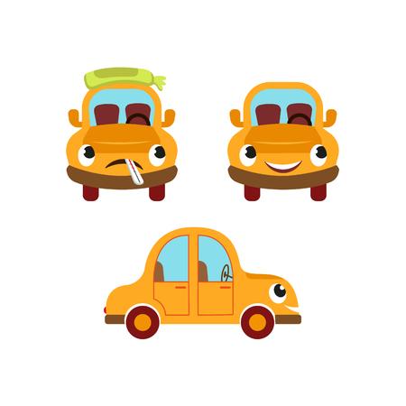 Los pacientes estilizados estilizados del coche vector la ilustración.