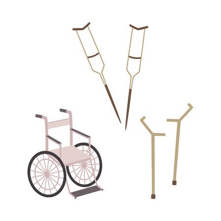 Handicap equipment vector illustration. Illustration