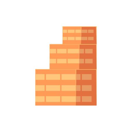 フラット等尺性多層 multistoried 建物、ビジネス センター、白い背景で隔離のベクトル図です。フラット多層建物、ビジネス センター、近代的な都市
