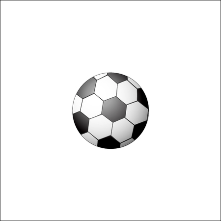 Traditional soccer, football ball, realistic vector illustration isolated on white background. Flat style realistic black and white soccer, football ball 向量圖像