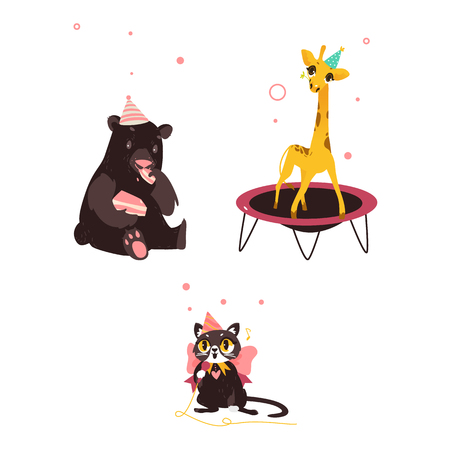 Cute animal characters Ilustrace