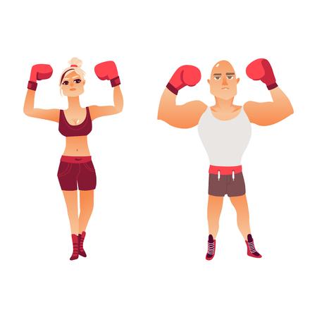 若いボクサーのカップル