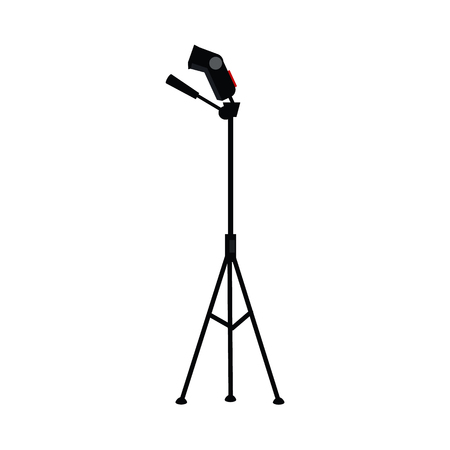 Flat cartoon photo studio flash light