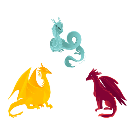 Majestic mythical dragons