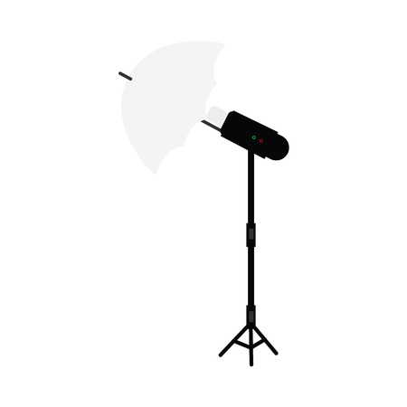 Cartoon photo studio flash light