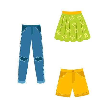 Flat vrouw outfit kleding set. Stockfoto - 92172770