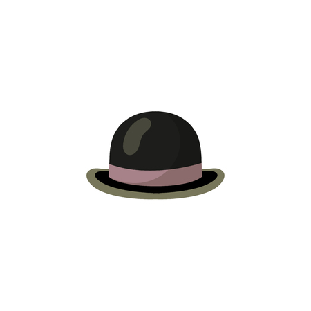 Black bowler hat icon.