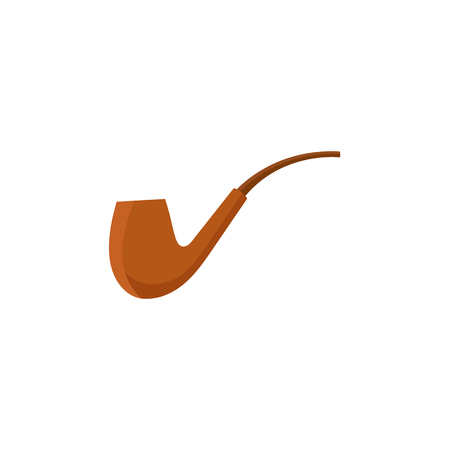 Stylized icon of traditional, classic pipe.