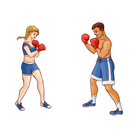 79 Boxer Couple Sports Stock Illustrations Cliparts And Royalty