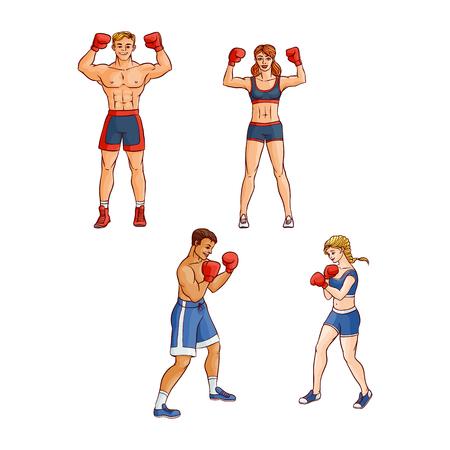 Happy boxers