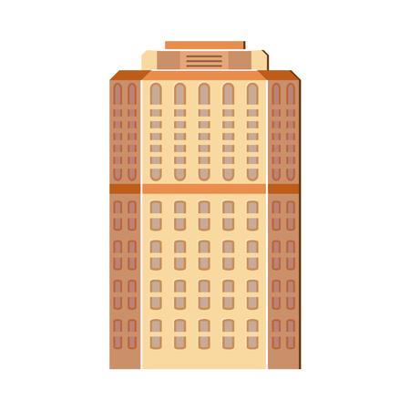 Modern, contemporary layered skyscraper, high rise building, flat illustration. Illusztráció