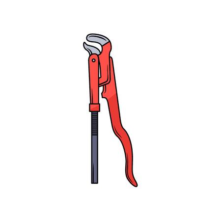 赤い多機能パイプレンチ