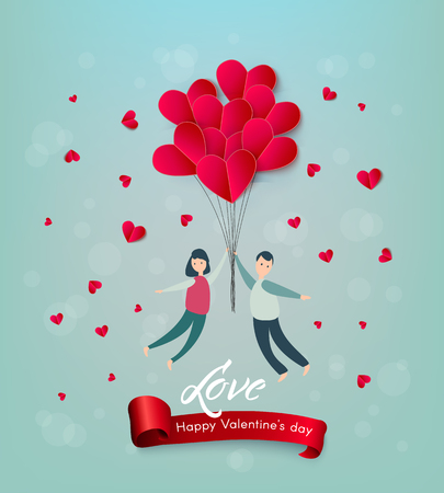 77337d593a7 Vector happy valentines day illustration