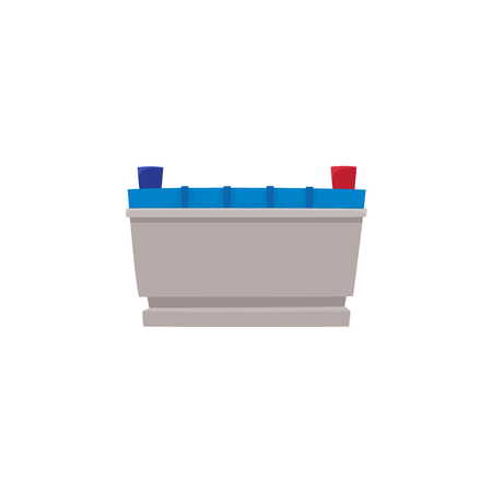 Vector flat car service design objects icon. Auto accumulator, car battery. Mechanics maintenance concept. Isolated illustration on a white background. Фото со стока - 93754996