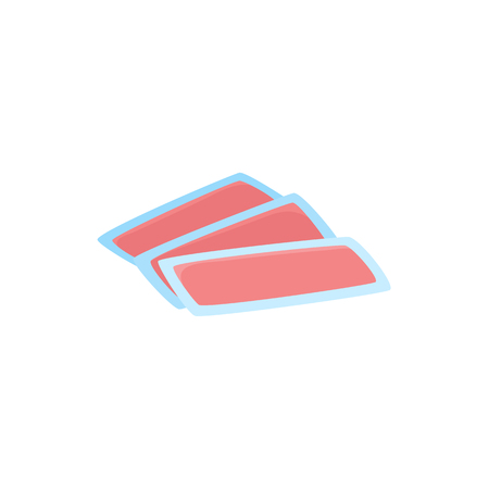 Set of disposable wax strips for depilation, hair removal procedure, flat style icon, vector illustration isolated on white background. Flat icon of wax strips, waxing hair removal procedure.
