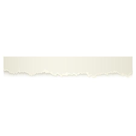 ●水平ピース、破れた白紙のリボン、リッピングエッジ、透明な背景に隔離されたリアルなベクトルイラスト。現実的なベクトルリボン、バナー、破れた紙の一部。 写真素材 - 93801463
