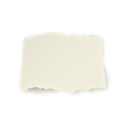 ●水平ピース、破れた白紙のリボン、リッピングエッジ、透明な背景に隔離されたリアルなベクトルイラスト。現実的なベクトルリボン、バナー、破れた紙の一部。 写真素材 - 93801464