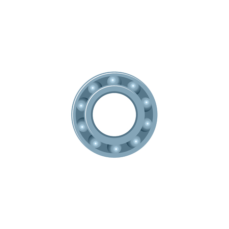 A vector flat car service design objects icon. Auto ball roller bearing. Mechanics maintenance concept. Isolated illustration on a white background. Çizim