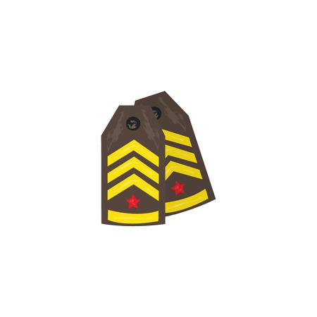 벡터 평면 육군, 군사, 2 월 23 일 러시아 수비수 날 상징 아이콘 - 군사 어깨 끈. 격리 된 그림, 흰색 배경입니다.