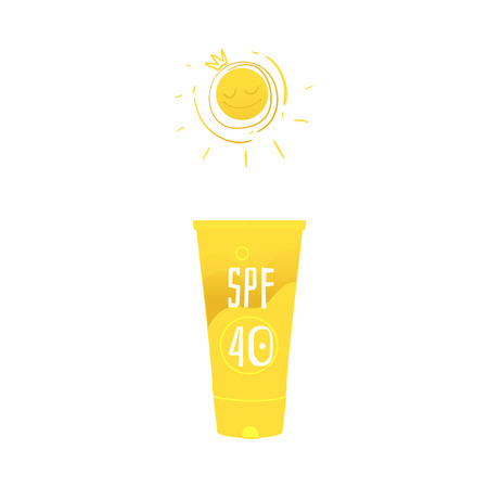 Vector flat sunblock sunscreen icon