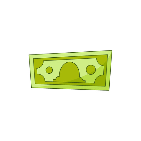 Vector flat cash money bill, bank hundred dollar banknote. Business finance savings profit success, jackpot, banking loan credit symbol. Isolated illustration, white background