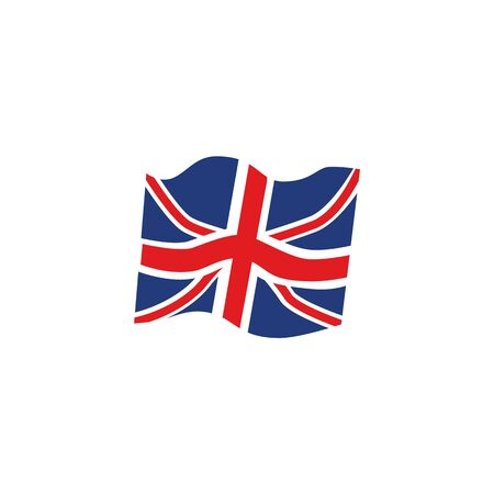 vector flat great britain, united kingdom union jack flag icon. Isolated illustration on a white background. English national cultural state symbol for your design