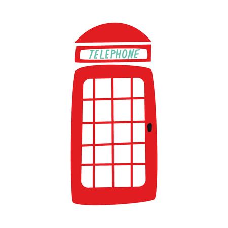 vector plat Britse rode telefooncel pictogram. geïsoleerde illustratie op een witte achtergrond.