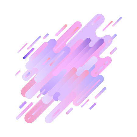 Glitch effect background with digital distortion lines in trendy ultra violet color - modern design with abstract geometric gradient shapes as signal error. Vector illustration.
