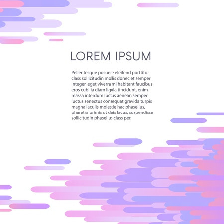 Glitched geometric ultraviolet pixel mosaic on white background with copy space - vector illustration of modern signal error design effect with abstract shapes.