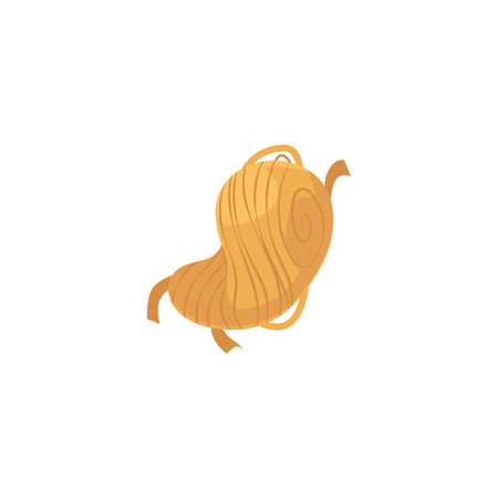 Cartoon noodles icon. Chinese, asian wok or italian pasta, spaghetti national cuisine, traditional meal. Culinary menu design object. Vector isolated illustration. Illustration