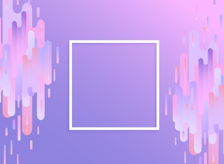 Violet glitched background with copy space - modern design template in trendy color with digital signal error effect with abstract gradient vertical stripes and shapes. Vector illustration.