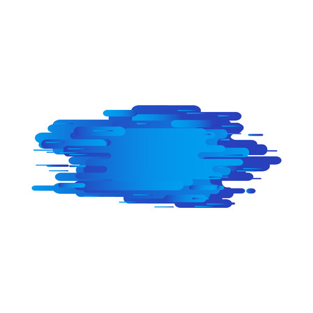 Trendy background template with vibrant gradient blue color and abstract round blended shapes flow. Vector modern poster, banner, presentation layout, corporate identity backdrop.