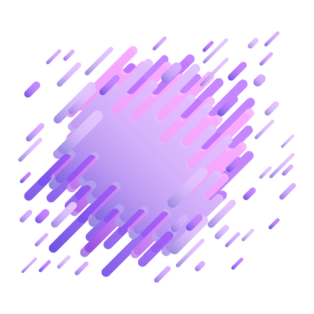 Glitched background with digital signal error effect in trendy ultra violet color - modern design with abstract stripes and shapes as signal bug. Vector illustration.