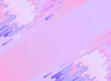 Violet glitched background with copy space. Modern design template in trendy color with digital signal error effect - vector illustration with abstract gradient stripes and shapes.