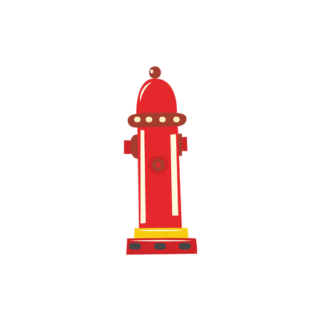 Water hydrant flat icon. Firefighter emergency water plug, urban street fireman fire prevention, protection tool. Vector isolated illustration