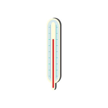 Body thermometer isolated on white background. Medical equipment for measuring body temperature in flat style - vector illustration of instrument for diagnostic of disease.