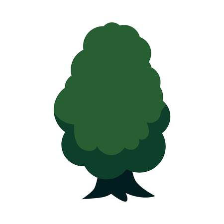Vector abstract tree with majestic green foliage canopy. Natural element for game landscape design. Forest plant flat icon. Symbol of ecology and environment. Isolated illustration Ilustração