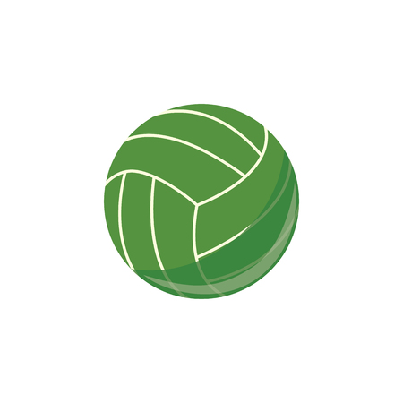 Vector beach volley ball simple icon. Sport equipment, game play element. Professional championship element. Athletic lifestyle symbol. Isolated illustration Ilustração