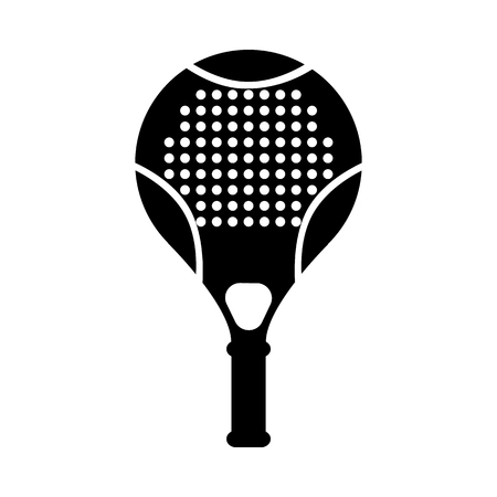 Vector tennis, squash racquet silhouette icon. Table game equipment. Professional sport, classic racket for official competitions and tournaments. Isolated illustration Illustration