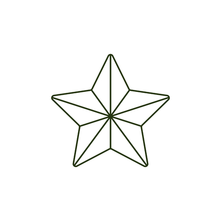 Vector 23 of february, Russian Defender of the Fatherland Day symbol icons - army star. National defence organisations holiday design decoration element. Isolated illustration